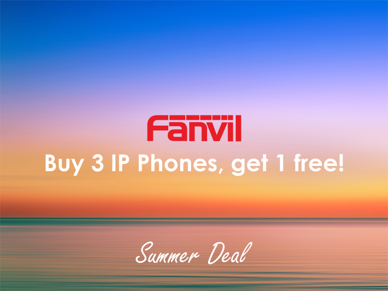 Summer Deal #1: Fanvil, buy 3, get 1 free! (Valid until 31/8)
