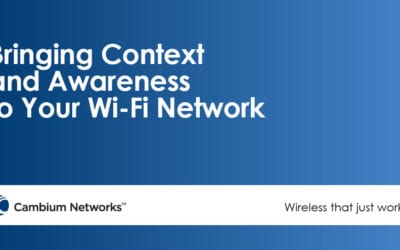Bringing Context and Awareness to Your Wi-Fi Network