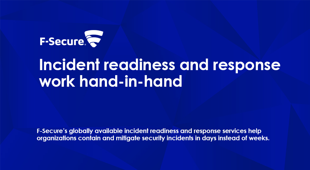 Incident readiness and respons work hand-in hand